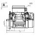 Voet-/flensmotor eenfase 0,25 kW - 3000 TPM - B35/B14 - hoog aanloopkoppel