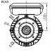 Flensmotor eenfase 0,37 kW - 1500 TPM - B5/B14 - hoog aanloopkoppel