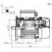 Voet-/flensmotor eenfase 0,37 kW - 3000 TPM - B35/B14 - hoog aanloopkoppel