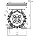 Voet-/flensmotor eenfase 0,75 kW - 3000 TPM - B35/B14 - hoog aanloopkoppel