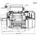 Voet-/flensmotor eenfase 2,2 kW - 3000 TPM - B35/B14 - hoog aanloopkoppel