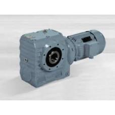 Haakse wormwielreductormotor JRTSA77 - 0,75 kW - 4,8 TPM - uitgaande holle as 50 mm