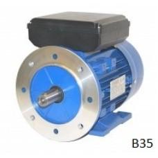 Voet-/flensmotor eenfase  0,09 kW - 1500 TPM - B35/B14 - laag aanloopkoppel