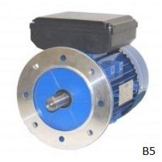Flensmotor eenfase 0,12 kW - 1500 TPM - B5/B14 - laag aanloopkoppel